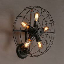 Industrial Retro rustic loft style fan shape wall sconce lighting