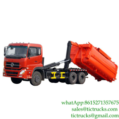 16cbm Dongfeng hook loader hooklift for sale Euro 4 ,5