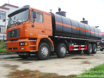 Liquid Asphalt Tanker Shacman bitumen tank truck 26000L