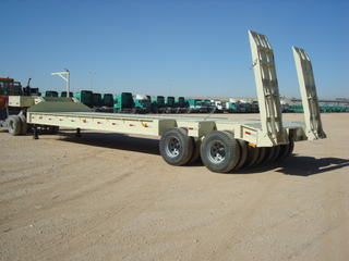 110 tons Rigid Bogie axles low bed trailer semi-trailer Tandem pendel