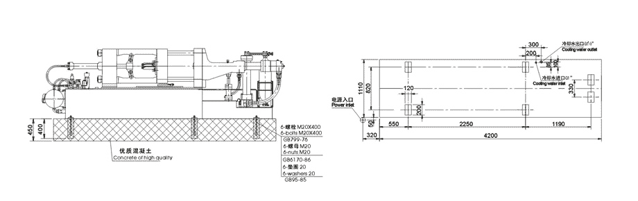 installation of 130tons/1300kN Cold Chamber Die Casting Machine