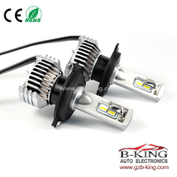 Smallest P12 45W 6500lm global H4 car led headlight with built-in fan( 100% suitable for all cars)