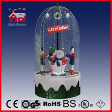 (40110FD180-4S-G1S) Snowing Christmas Decorations with Revolving Figures