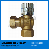 1/2 Inch Brass Magnetic Lockable Ball Valve (BW-L06)