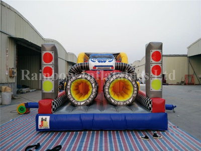 RB5066(12x3.7x4m) Inflatable Race Car Obstacle Course For Sale