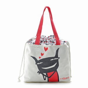 Picnic Lunch Tote Bag School Waterproof Portable Canvas Lunch Bags for Womens Blue White Stripes