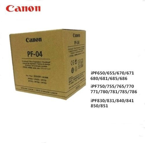 Original Print head Canon PF-04 Printhead for IPF650/655/750/760/765/710/755