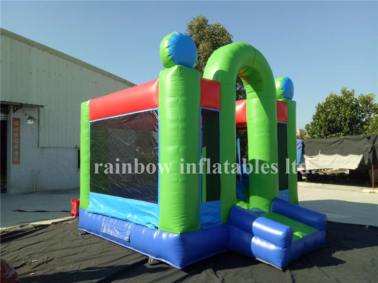 RB3016(4x4m) Inflatables Blue and Greenn Color Bouncer With Slide For Theme Park