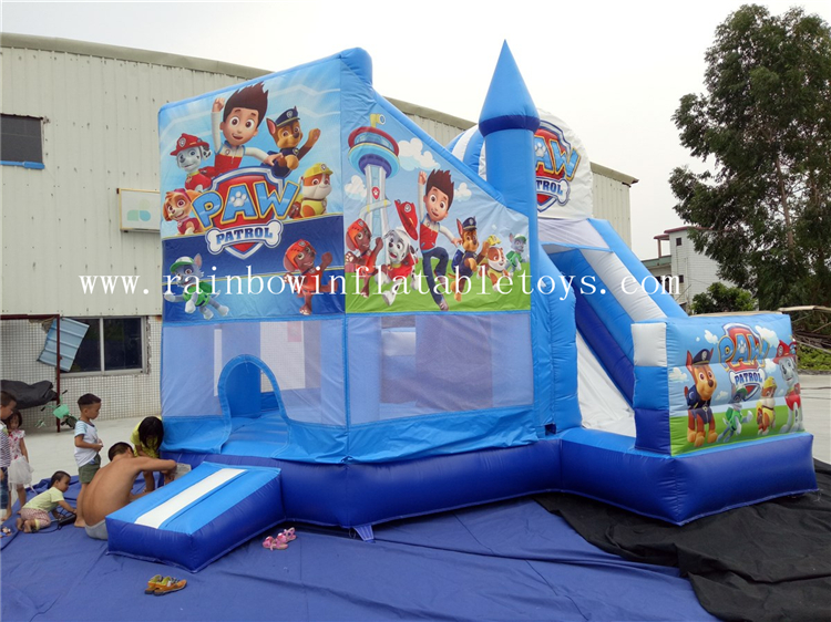 RB3058( 5x5m )Inflatables Paw Patrol Combo Castle With Slide
