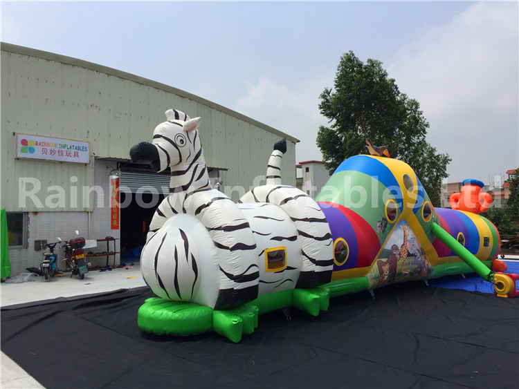 RB12013(12x2.5m) Inflatable Tunnel Long Obstacle Course For Children