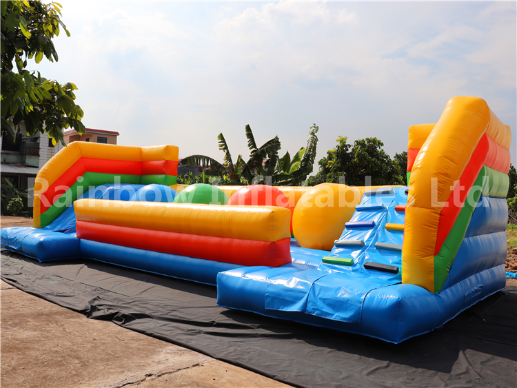 RB9132( 12x5m ) Inflatable Wipeout Big Baller Obstacle/ Wipeout Inflatable Big Baller Games