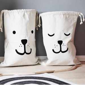 Useful Baby Toys Pouch Canvas Storage Bags Cute dog Laundry Bag