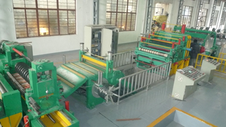 Automatic double knife block steel slitting and rewinding machine