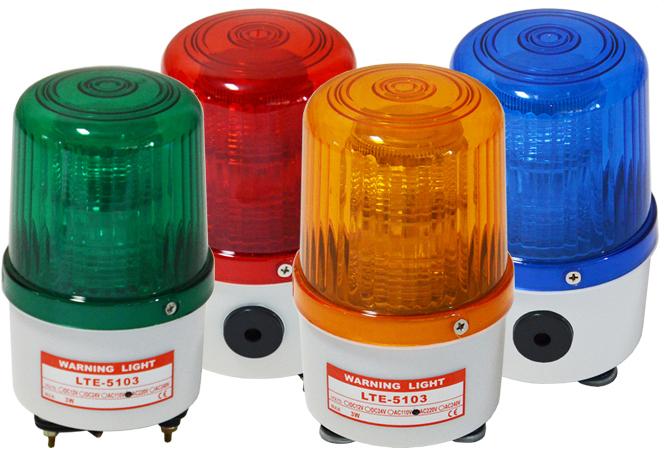 LTD-5103J mini single led lights with siren l DC12V 24V