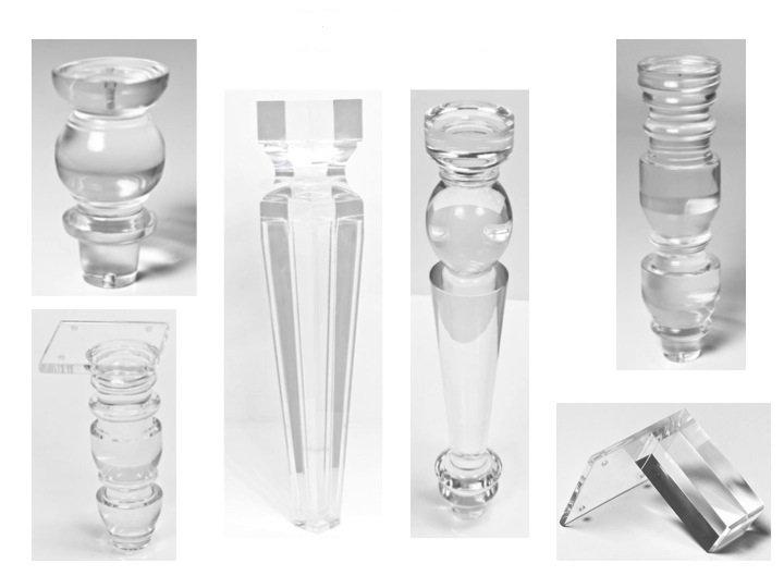 Luxury Lucite Acrylic Clear Dining, Plexiglass Furniture Legs