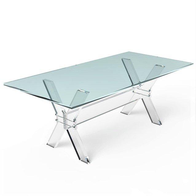 X Leg Crystal Plexiglass Dining Room Table Acrylic Dining Table With Glass  Top   Buy Acrylic Furniture, Acrylic Crystal Dining Table, Acrylic Dining  Table ...