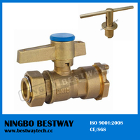 Brass Lockable Ball Valve with Bottom Price (BW-L01)