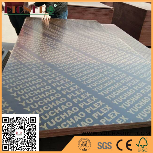 Waterproof Glue Brown Color Formwork Film Faced Plywood For Construction