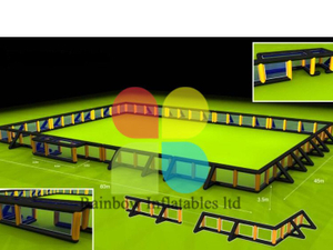 RB50027 (customized) Inflatable inflatable paintball arena/inflatable paintball field for sale