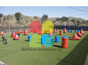 RB50031(customized)Inflatable giant outdoor paintball bunkers for sale