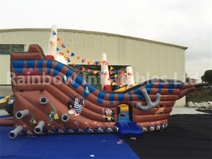RB11003(8.4x4.8x4.5m) Inflatable Pirate Boat Bouncer Indoor Hot Selling