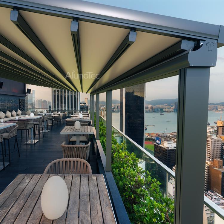 Aluminum Retractable PVC Pergola Fabric Roof