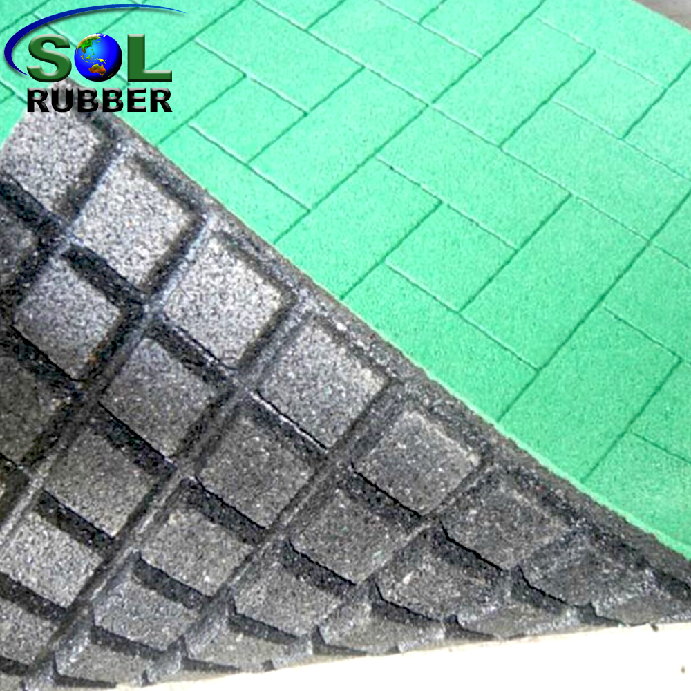 SOL RUBBER outdoor driveway recycled rubber brick tiles mats