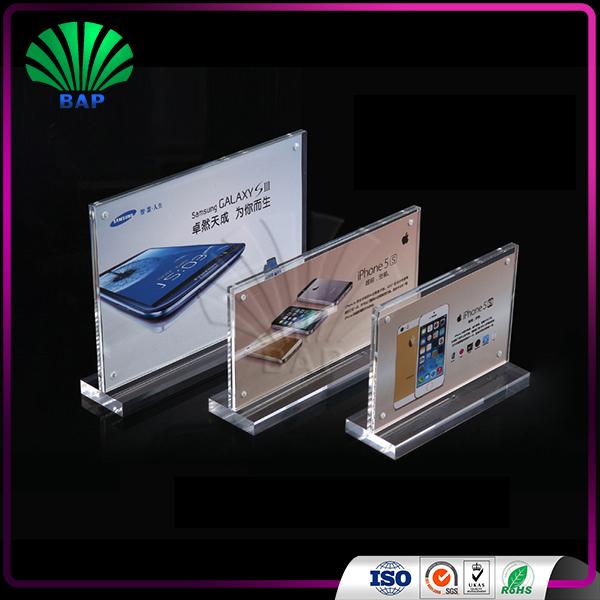 Hot Sale Acrylic Display Restaurant Table Card Acrylic Menu Holder - Restaurant table sign holders