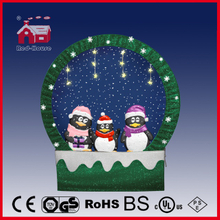 (40110F170-3P-GG) Snowing Christmas Decorations with Frame-supported and Textile-decorated
