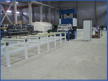 Steel frame pressure welding production line