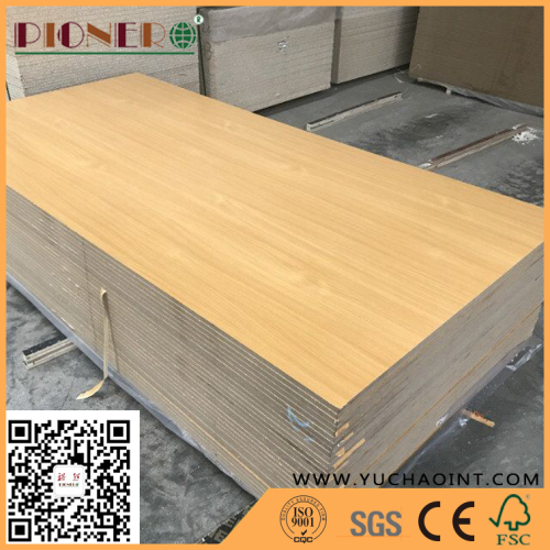 Grooved White Laminated Melamine Deorative MDF Board slotted board