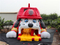 RB6106(13.8x8.2x7.6m) Inflatable Fire Dog Slide with a Helmet For Kids