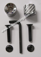Carbon Fiber License Plate Screws AR-LPS015