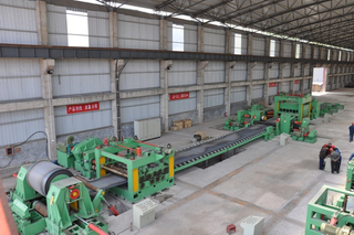 High precision powerful coil feeder straightener cut to length line