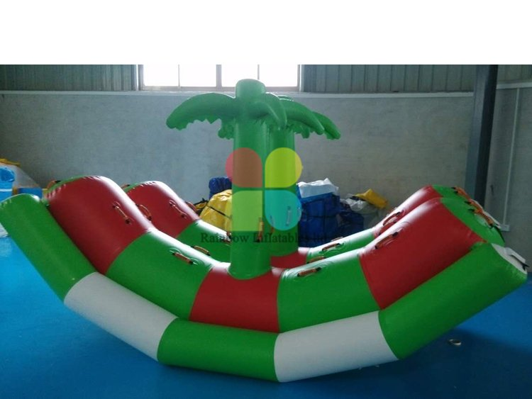 Customized inflatable water games for sale Coconut tree shape RB32062