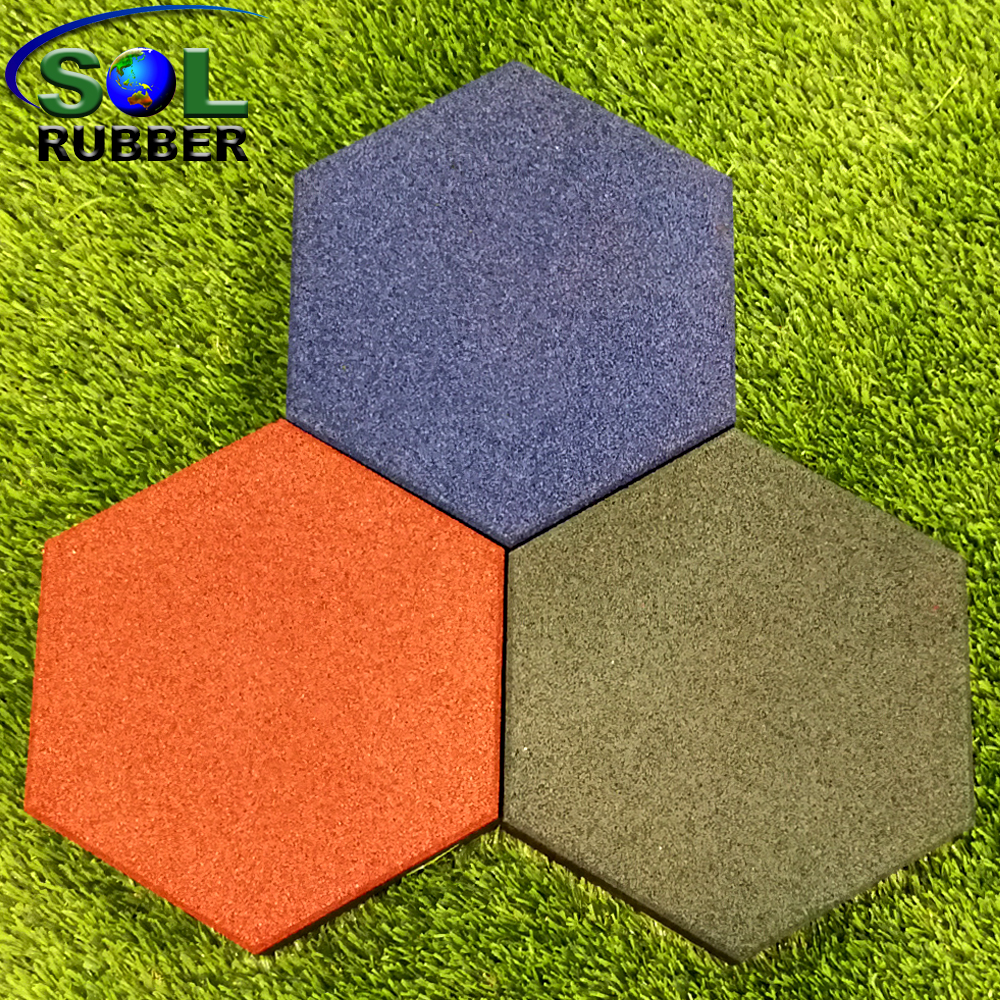 SOL RUBBER Used Outdoor Safety Garden Rubber Floor Tiles