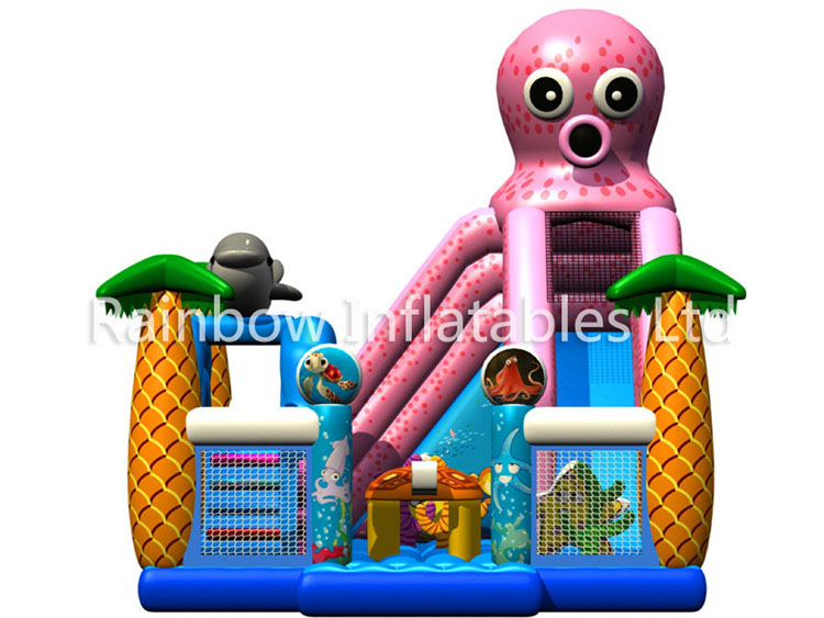RB4051(7x10x6.5m) Inflatable Octopus funcity with Slide