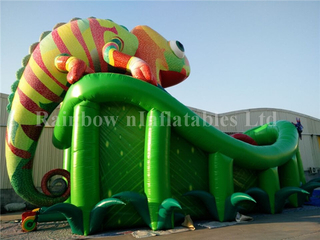 RB6060(12.2x5.6x8.5m) Inflatable Large Chameleon Slide For Children