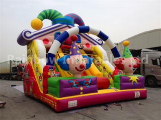 RB6059(6x5.5m) Inflatable New Design Clown Theme Slide For Children