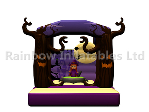 RB01143(4x4.5m)Inflatable Halloween Theme Witch bouncer for Kids