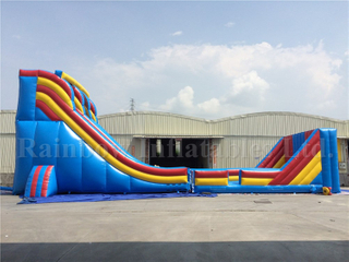 RB6057(21x6x9mh) Inflatable Giant Customized Commercial Zip Slide For Kids