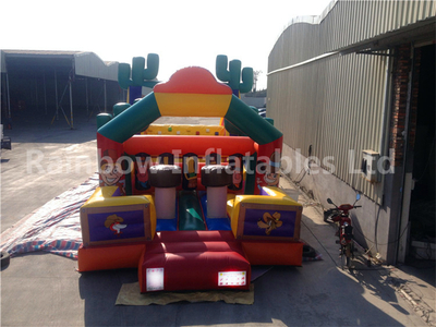 RB5037(13x4m)Inflatable Commercial Kids Obstacle Course For Sale,Inflatable Castle Obstacle Slide