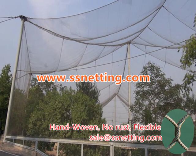 bird netting fence for crane exhibit project crane cage netting & bird netting fence for crane exhibit project crane cage netting ...