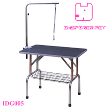 Stainless Steel Dog Pet Grooming Table With Adjustable Arm Basket