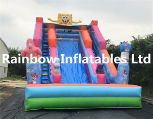 RB6017(8x5.5x7m) Inflatables happy Sponge Bob Slide