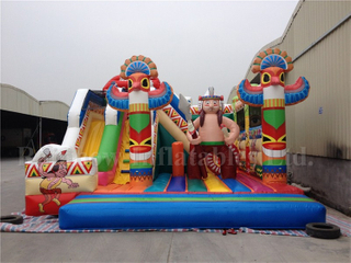 RB04012( 6x8m )Inflatables Giant Egypt Funcity With Slide For Kids