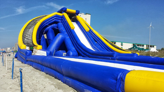 Giant Inflatable Hippo Water Beach Slide for Adults and Kids