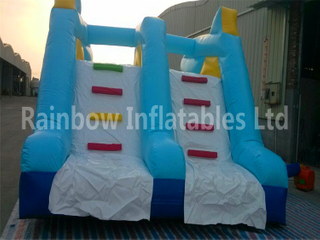 RB32002(6.3x4x3.5m) Inflatable Shark Theme Double Water Slide For Children