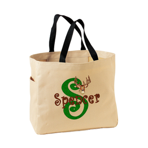Denier Tote Bag With Left side pocket