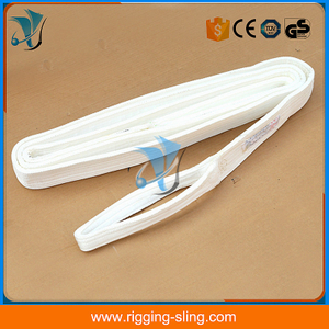 50mm white double ply polyester lifting sling